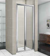 Душевая дверь складная GOOD DOOR INFINITY SD-80-G-CH (80*185 см) стекло матовое 4 мм